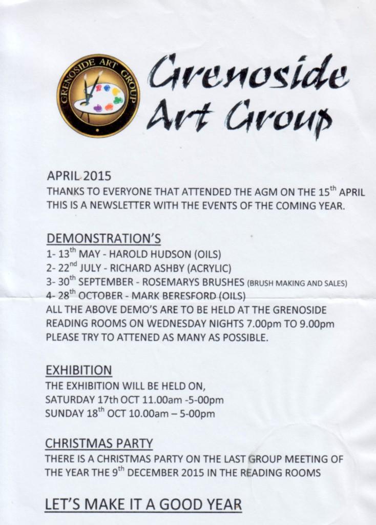 Greno Art Group Newsletter 2015