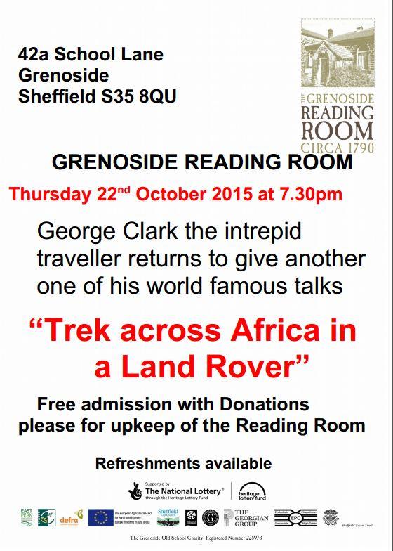 Talk: Trek across Africa in a Land Rover   Grenoside Reading Room