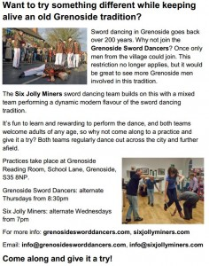 Sword Dancers Invitation