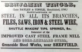 Tingle Steel Ad