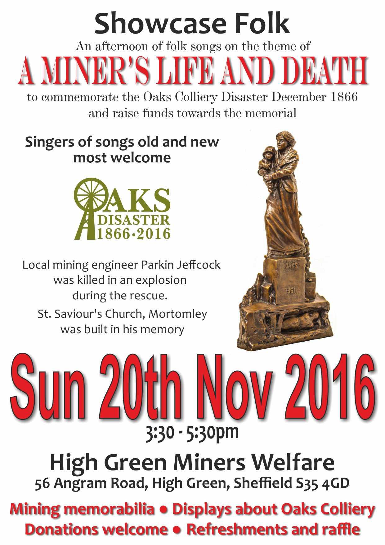Oaks Memorial Fundraiser At High Green Miners Welfare Grenoside